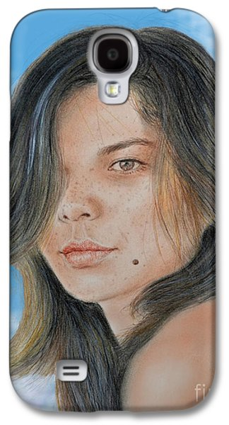 Beauty Mark Mixed Media Galaxy S4 Cases - Beautiful and Sexy Actress Jeananne Goossen III Altered Version Galaxy S4 Case by Jim Fitzpatrick