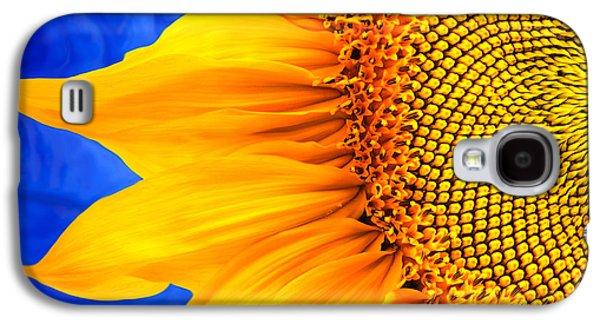 Rollosphotos Digital Art Galaxy S4 Cases - Beautiful Bold Sunflower Galaxy S4 Case by Christina Rollo