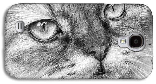 Beautiful Cat Galaxy S4 Case by Olga Shvartsur