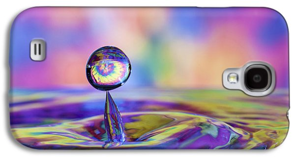 Blue Abstracts Galaxy S4 Cases - Beautiful Colorful Water Drop and Splash Galaxy S4 Case by Judy Kennamer