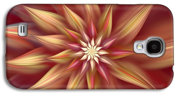 Youthful Galaxy S4 Cases - Beautiful Dahlia Abstract Galaxy S4 Case by Georgiana Romanovna
