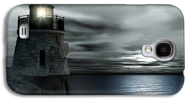 New England Ocean Galaxy S4 Cases - Beautiful Light In The Night Galaxy S4 Case by Lourry Legarde