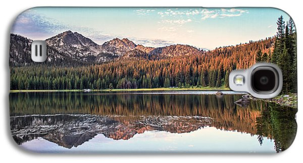 Haybale Galaxy S4 Cases - Beautiful Mountain Reflection Galaxy S4 Case by Robert Bales