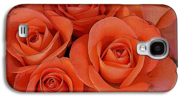 Abstract Forms Galaxy S4 Cases - Beautiful peach roses 2 Galaxy S4 Case by Carol Lynch