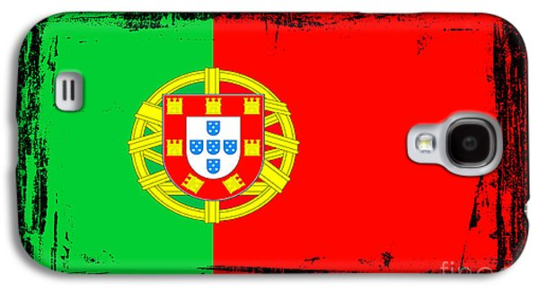 Portuguese Mixed Media Galaxy S4 Cases - Beautiful Portugal Flag Galaxy S4 Case by Pamela Johnson