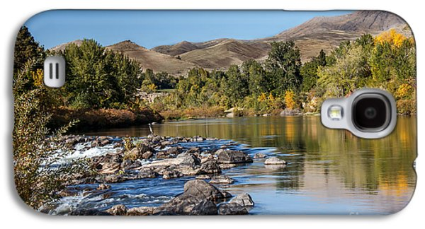 Haybale Galaxy S4 Cases - Beautiful River Galaxy S4 Case by Robert Bales