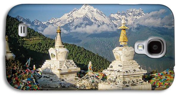 Tibetan Buddhism Galaxy S4 Cases - Beautiful Snow Mountain - Meili Xue Shan Galaxy S4 Case by James Wheeler