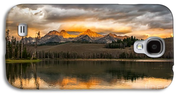 Surreal Landscape Galaxy S4 Cases - Beautiful Sunrise On Little Redfish Lake Galaxy S4 Case by Robert Bales