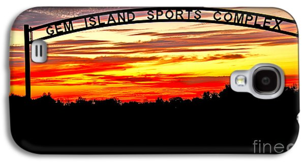 Softball Photographs Galaxy S4 Cases - Beautiful Sunset And Emmett Sport Comples Galaxy S4 Case by Robert Bales