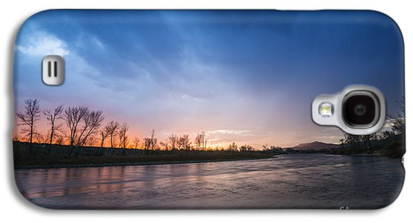 Reflections Of Sky In Water Galaxy S4 Cases - Beautiful sunset over Boise River in Boise idaho Galaxy S4 Case by Vishwanath Bhat