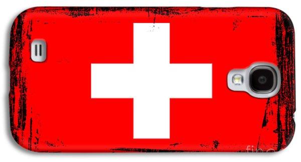 Swiss Mixed Media Galaxy S4 Cases - Beautiful Switzerland Flag Galaxy S4 Case by Pamela Johnson