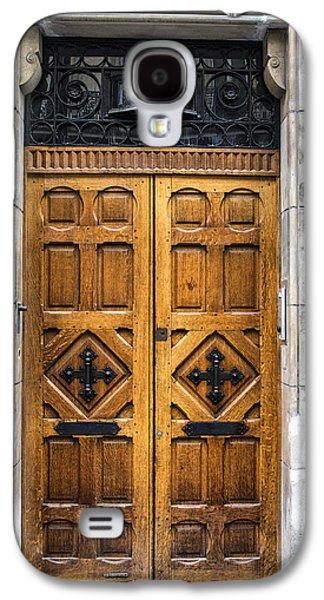 Wooden Door Galaxy S4 Cases - Beautiful Wooden Paris Door Galaxy S4 Case by Georgia Fowler