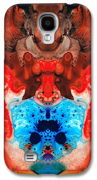 Dreamscape Galaxy S4 Cases - Beauty And The Beast - Abstract Art By Sharon Cummings Galaxy S4 Case by Sharon Cummings