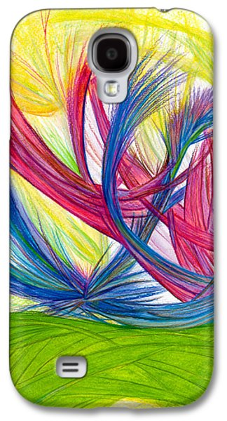 Abstract Movement Drawings Galaxy S4 Cases - Beauty gives Joy Galaxy S4 Case by Kelly K H B