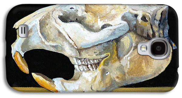 Beaver Skull 1 Galaxy S4 Case by Catherine Twomey