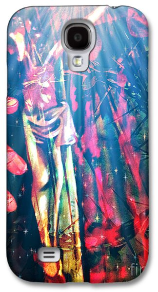 Faniart Africa America Mixed Media Galaxy S4 Cases - Because He Lives Galaxy S4 Case by Fania Simon