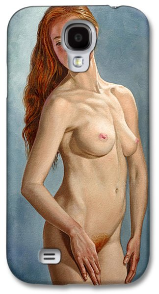 Figures Paintings Galaxy S4 Cases - Becca 419 Galaxy S4 Case by Paul Krapf