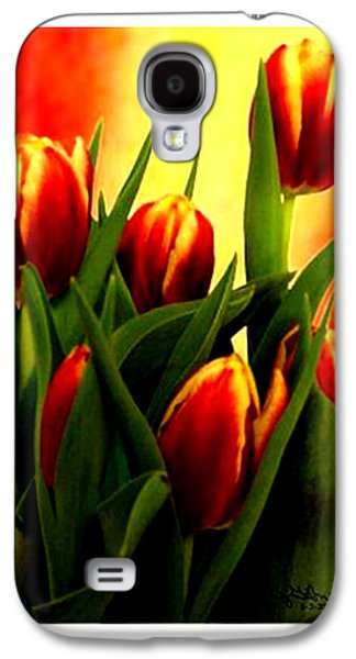 Becky Digital Art Galaxy S4 Cases - Becky Tulips Art2 jGibney The MUSEUM Gifts Galaxy S4 Case by The MUSEUM Artist Series jGibney