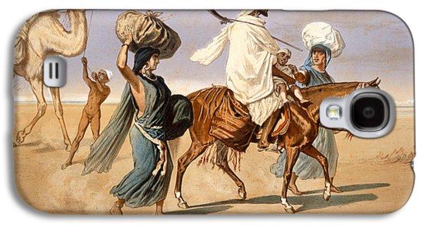 Slaves Galaxy S4 Cases - Bedouin family travels across the desert Galaxy S4 Case by Henri de Montaut