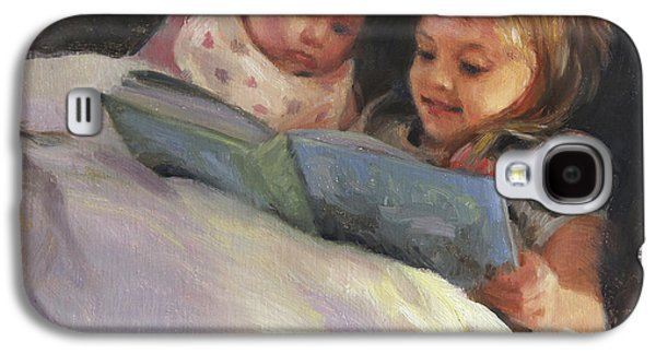 Sisters Galaxy S4 Cases - Bedtime Bible Stories Galaxy S4 Case by Anna Rose Bain