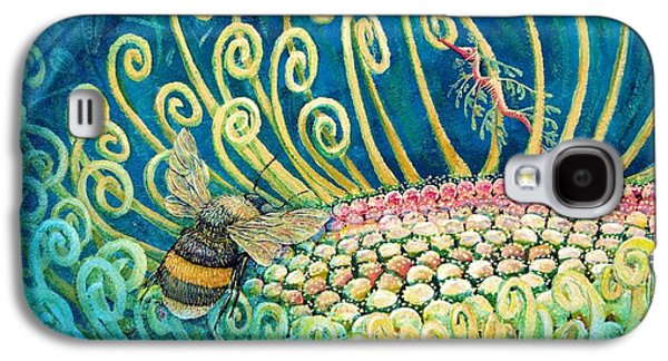 Leafy Sea Dragon Galaxy S4 Cases - Bee Amazing mural detail Galaxy S4 Case by Elizabeth Criss