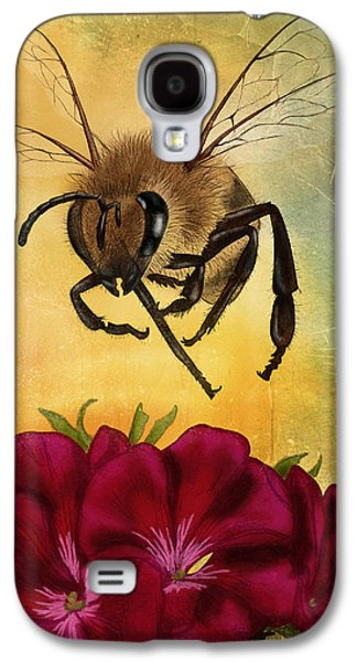 Hovering Galaxy S4 Cases - Bee I Galaxy S4 Case by April Moen