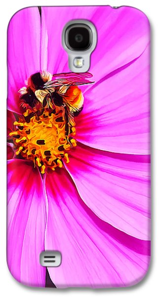 Digitally Manipulated Galaxy S4 Cases - Bee on Pink Galaxy S4 Case by Bill Caldwell -        ABeautifulSky Photography