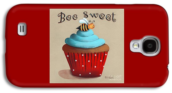 Catherine White Paintings Galaxy S4 Cases - Bee Sweet Cupcake Galaxy S4 Case by Catherine Holman