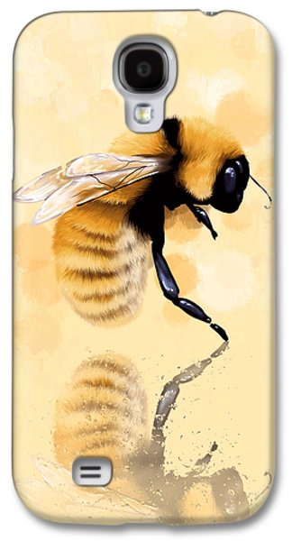 Digital Paintings Galaxy S4 Cases - Bee Galaxy S4 Case by Veronica Minozzi