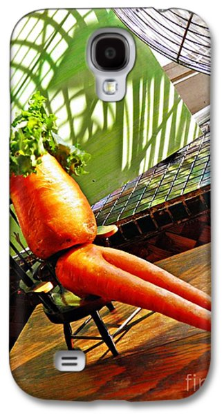 Beer Belly Carrot On A Hot Day Galaxy S4 Case by Sarah Loft