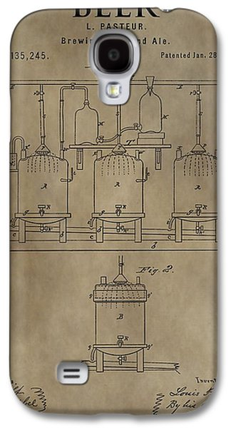 Mechanics Mixed Media Galaxy S4 Cases - Beer Brewery Patent Galaxy S4 Case by Dan Sproul