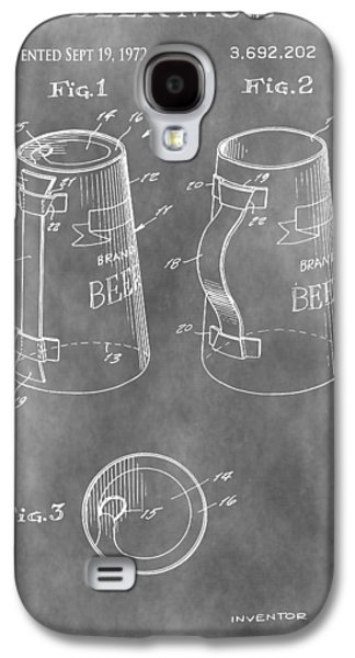 Owner Mixed Media Galaxy S4 Cases - Beer Mug Patent Galaxy S4 Case by Dan Sproul