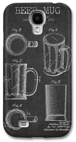 Brew Galaxy S4 Cases - Beer Mug Patent Drawing from 1951 - Dark Galaxy S4 Case by Aged Pixel