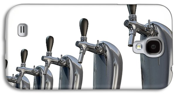Machinery Galaxy S4 Cases - Beer Tap Row Isolated Galaxy S4 Case by Allan Swart