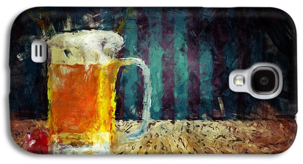 Abstract Digital Paintings Galaxy S4 Cases - Beer Time Galaxy S4 Case by Adam Vance