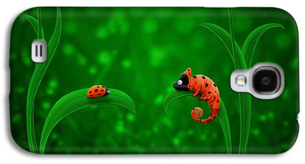 Animation Galaxy S4 Cases - Beetle Chameleon Galaxy S4 Case by Gianfranco Weiss