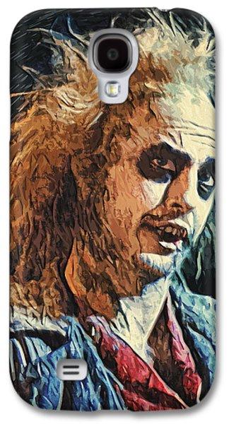 Creepy Digital Galaxy S4 Cases - Beetlejuice Galaxy S4 Case by Taylan Soyturk