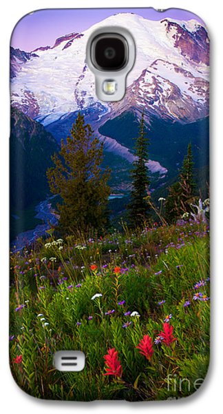 White River Galaxy S4 Cases - Before Dawn at Mount Rainier Galaxy S4 Case by Inge Johnsson