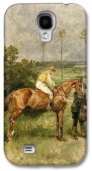 Jockeys Galaxy S4 Cases - Before the Start Galaxy S4 Case by John Lewis Brown