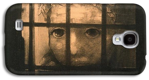 Jail Paintings Galaxy S4 Cases - Behind Bars Galaxy S4 Case by Odilon Redon