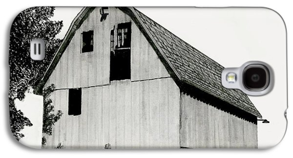 Old Barn Drawing Drawings Galaxy S4 Cases - Behind The Barn Galaxy S4 Case by Todd Spaur