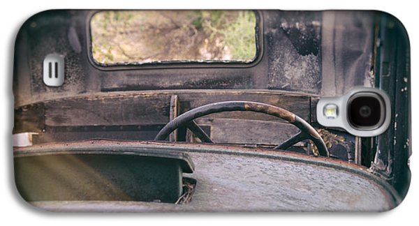 Old Trucks Photographs Galaxy S4 Cases - Behind the Wheel Galaxy S4 Case by Peter Tellone