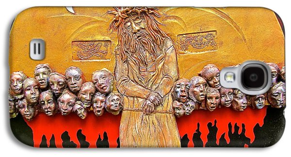 Religious Ceramics Galaxy S4 Cases - Behold the Man Galaxy S4 Case by Gary Wilson