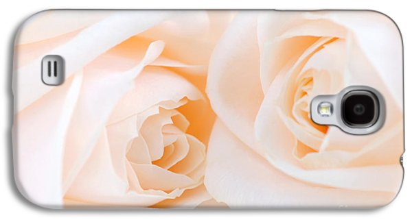 Pairs Galaxy S4 Cases - Beige roses Galaxy S4 Case by Elena Elisseeva