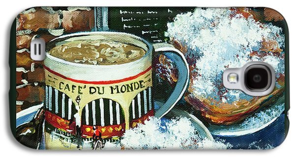 French Quarter Paintings Galaxy S4 Cases - Beignets and Cafe au Lait Galaxy S4 Case by Dianne Parks