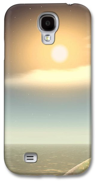 Sea Moon Full Moon Galaxy S4 Cases - Being There Galaxy S4 Case by Wendy J St Christopher