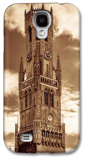 Brown Tones Galaxy S4 Cases - Belfry Tower of Bruges Galaxy S4 Case by Wim Lanclus
