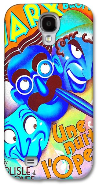 At Poster Mixed Media Galaxy S4 Cases - Belgian poster of A Night at the Opera Galaxy S4 Case by Art Cinema Gallery