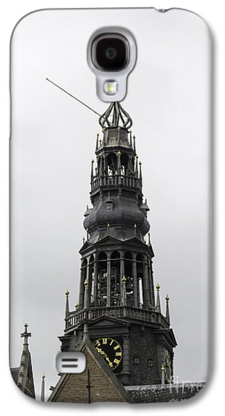 Weathervane Galaxy S4 Cases - Bell Tower at Oude Kerk Amsterdam Galaxy S4 Case by Teresa Mucha