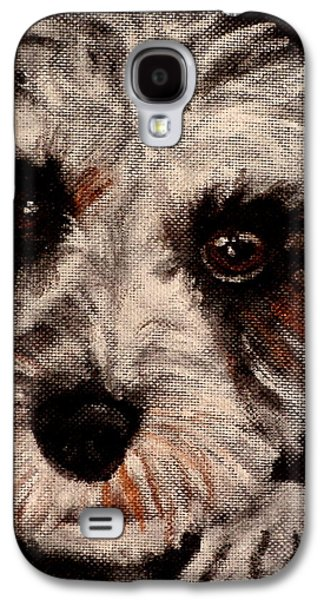 Dog Close-up Paintings Galaxy S4 Cases - Bella Galaxy S4 Case by Carol Russell